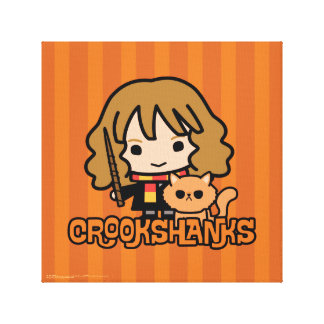 Cartoon Hermione and Crookshanks Canvas Print
