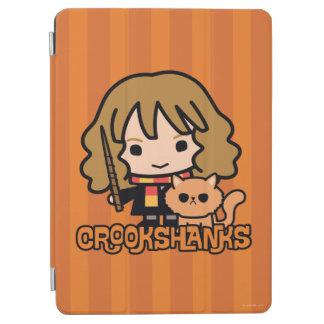 Cartoon Hermione and Crookshanks iPad Air Cover