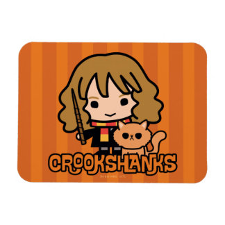 Cartoon Hermione and Crookshanks Magnet