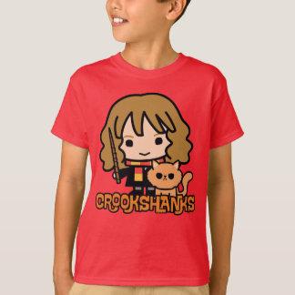 Cartoon Hermione and Crookshanks T-Shirt