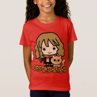 Cartoon Hermione and Crookshanks T-Shirt