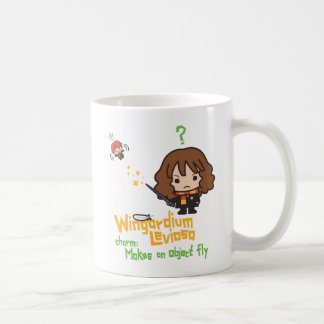 Cartoon Hermione and Ron Wingardium Leviosa Spell Coffee Mug
