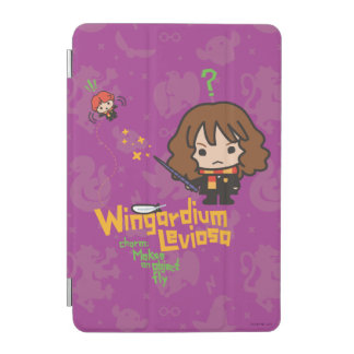 Cartoon Hermione and Ron Wingardium Leviosa Spell iPad Mini Cover