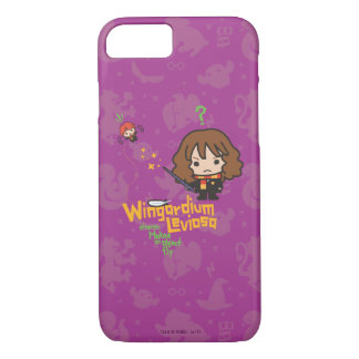 Cartoon Hermione and Ron Wingardium Leviosa Spell iPhone 8/7 Case