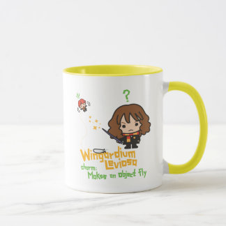 Cartoon Hermione and Ron Wingardium Leviosa Spell Mug