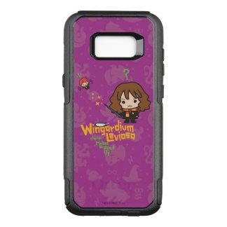 Cartoon Hermione and Ron Wingardium Leviosa Spell OtterBox Commuter Samsung Galaxy S8+ Case