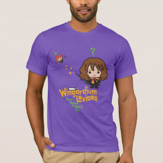 Cartoon Hermione and Ron Wingardium Leviosa Spell T-Shirt