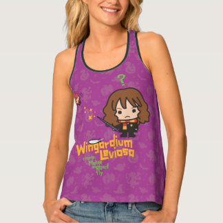 Cartoon Hermione and Ron Wingardium Leviosa Spell Tank Top