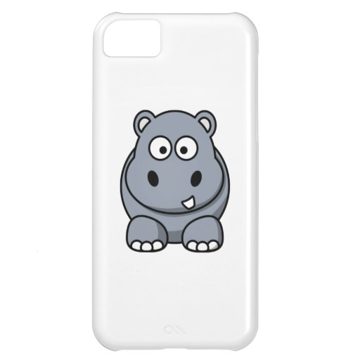 Cartoon Hippo Cover For iPhone 5C