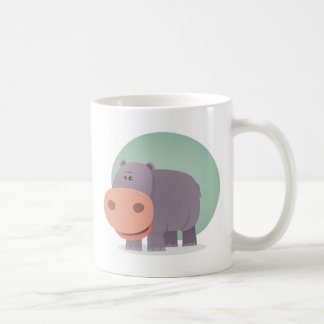 Cartoon Hippo Coffee Mug