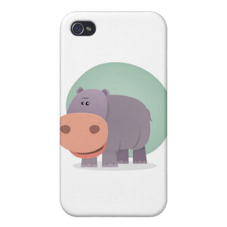 Cartoon Hippo Cases For iPhone 4