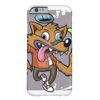 Cartoon hipster wolf with soda barely there iPhone 6 case