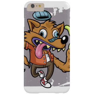 Cartoon hipster wolf with soda barely there iPhone 6 plus case