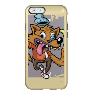 Cartoon hipster wolf with soda incipio feather® shine iPhone 6 case
