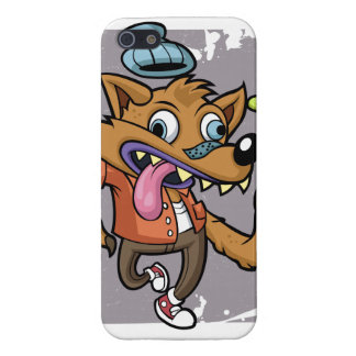 Cartoon hipster wolf with soda iPhone 5/5S cover