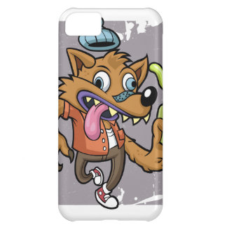 Cartoon hipster wolf with soda iPhone 5C covers