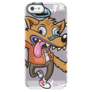 Cartoon hipster wolf with soda permafrost® iPhone SE/5/5s case