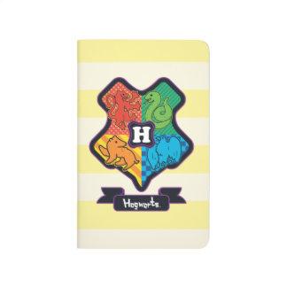 Cartoon Hogwarts Crest Journal
