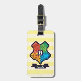 Cartoon Hogwarts Crest Luggage Tag