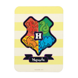 Cartoon Hogwarts Crest Magnet