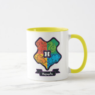 Cartoon Hogwarts Crest Mug