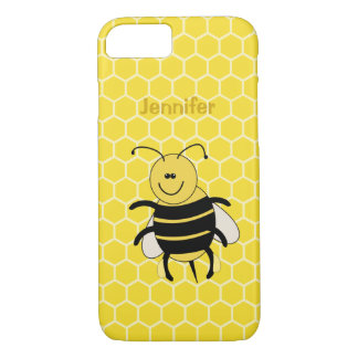 Cartoon Honey Bee iphone Case for Beekeeper Apiary