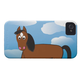 Cartoon Horse Bay with white socks iPhone4 Case