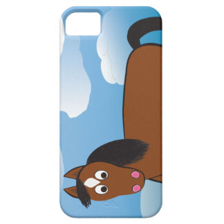 Cartoon Horse Bay with white socks iPhone 5 Cases
