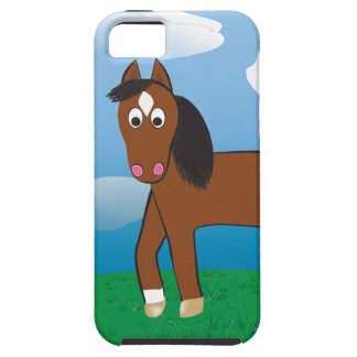 Cartoon Horse Bay with white socks iPhone 5/5S Case