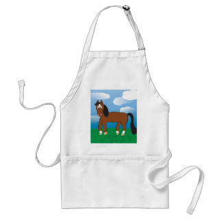 Cartoon Horse Bay with white socks Standard Apron