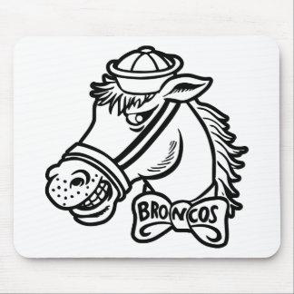 Cartoon Horse Bronc Broncos Mouse Mat
