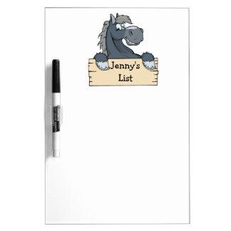 Cartoon Horse Kids To Do List Dry-Erase Whiteboard