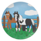 Cartoon horse plate