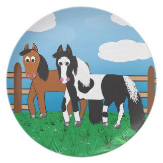Cartoon horse plate