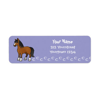 Cartoon Horse Return Address Label