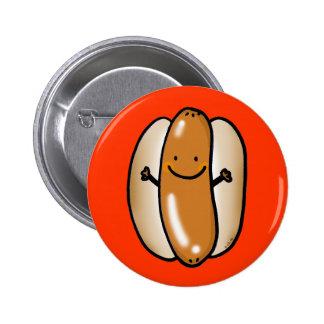 cartoon hot dog sausage 2 inch round button