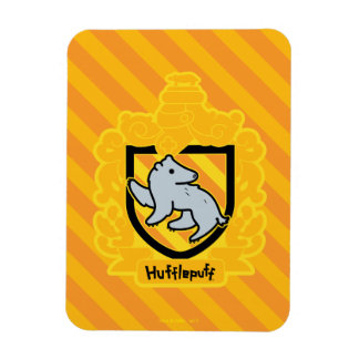 Cartoon Hufflepuff Crest Magnet