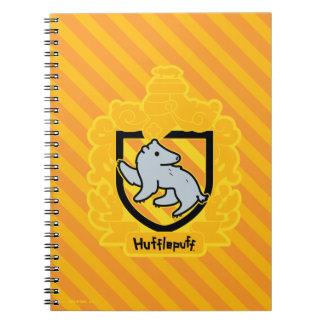 Cartoon Hufflepuff Crest Notebook