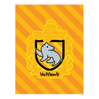 Cartoon Hufflepuff Crest Postcard