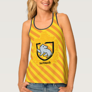 Cartoon Hufflepuff Crest Tank Top