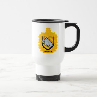 Cartoon Hufflepuff Crest Travel Mug