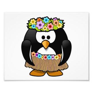 Cartoon Hula Penguin Photograph