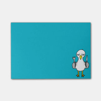 Cartoon Hungry Seagull Post-it Notes