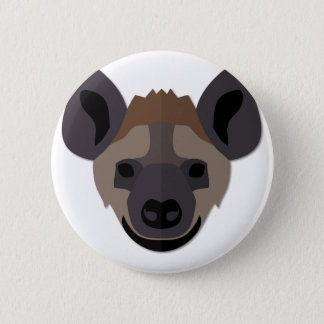 Cartoon Hyena Head 2 Inch Round Button