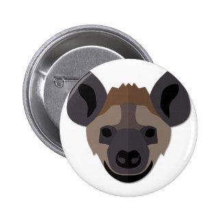 Cartoon Hyena Head 2 Inch Round Button