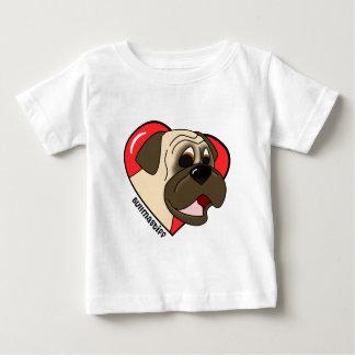 Cartoon I Love my Bullmastiff T-Shirt