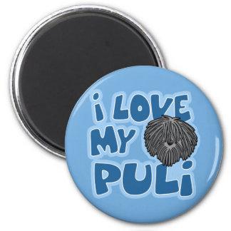 Cartoon I Love My Puli Magnet