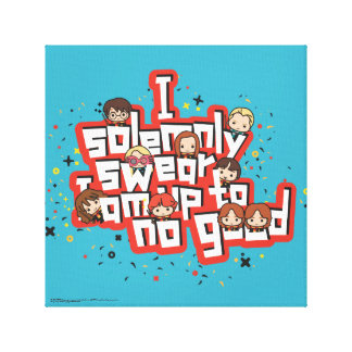 "Cartoon ""I solemnly swear"" Graphic Canvas Print"