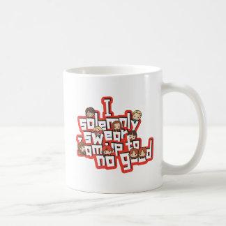 """Cartoon """"I solemnly swear"""" Graphic Coffee Mug"""