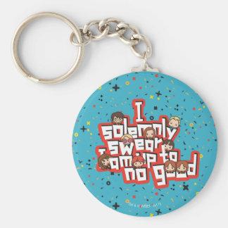 "Cartoon ""I solemnly swear"" Graphic Keychain"